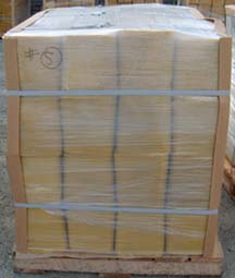 pallet for export